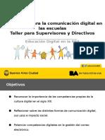 Taller Estrategias Para La Comunicación Digital en Las Escuelas