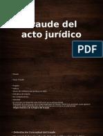 Fraude Del Acto Jurídico