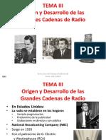 T.3 Origen y Desarrollo de Las Grandes Cadenas de Radio