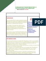 Consulta de Requisitos Fitosanitarios Para La Exportacion de Productos Forestales