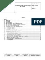 Reglamento Para Certificacion de SGSCS