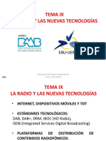 T.9 La Radio y Las Nuevas Tecnologias