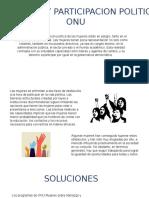 Participacion de La Mujer en Politica Segun La Onu