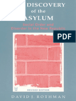 David Rothman Discovery of Asylum