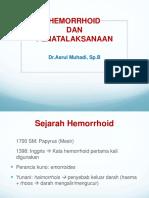 Clinical Mentoring 4 Hemorroid Dan Penatalaksanan