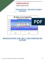 El Rebote Del Dólar Se Extendió Más y El Billete Volvió a 16 Pesos. El Mayorista También Sube, Igual Que Otras Monedas Como El Euro, El Real y La Libra
