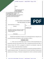 U.S. v. Arizona -- lawsuit re Arizona immigration law (SB 1070)