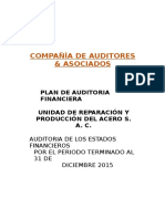 5 - Plan de Auditoria Financiera