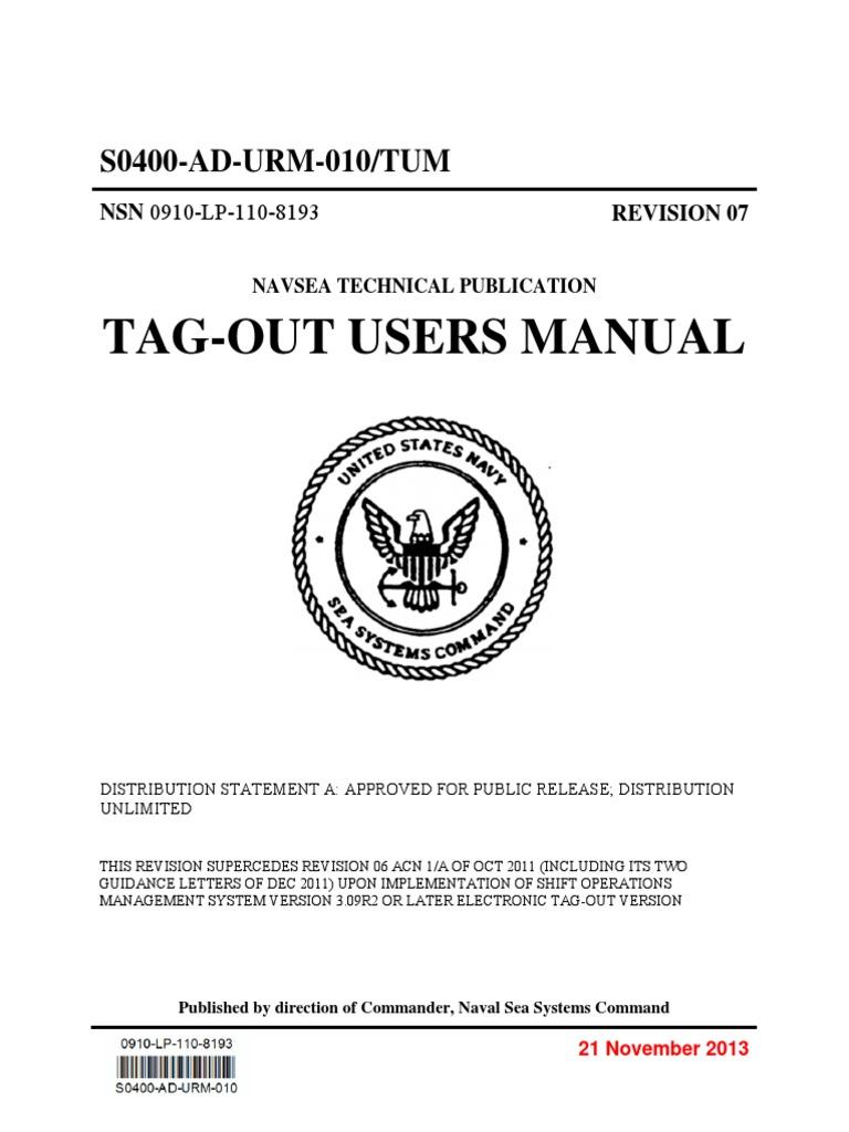 s0400 ad urm 010 tum revision 7 tag out users manual rh scribd com Rev. 7 Gum Rev 12 7 9