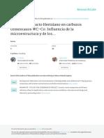 Daño Por Contacto Hertziano en Carburos Cementados