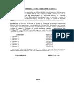 Acta de Prueba Campo y Descarte de Droga, 15oct
