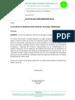Informe de Baja Del Personal Obrero-Tayacaja