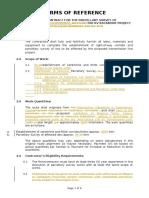 1. TOR for Parcellary Survey Calaca-Dasma 500 KV TLP