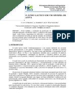 PURIFICAÇÃO DO ÁCIDO LÁCTICO EM UM SISTEMA DE DESTILAÇÃO REATIVA