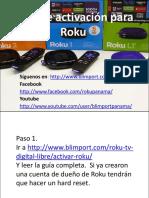 Guia Activacion Roku PDF