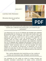Preguntas para análisis y discusión Costeo por proceso
