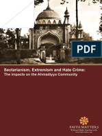 Sectarianism Extremism and Hate Crime