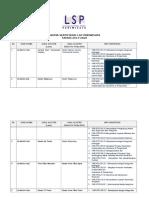 Daftar Skema Sertifikasi Lsp Pariwisata-2016 Revisi 18 Nov.