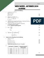 07 Algebra October 2014