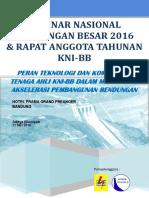 Buku Panduan Acara Seminar Nasional Bendungan Besar 2016