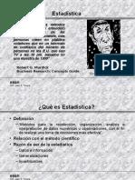 Estadística y Descripción de Datos
