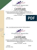 Certificado Abilio