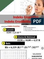 Menghitung Erosivitas Dan Erodibilitas