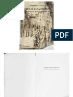 Sobre El Renacimiento. Principios, Ciudades, Arquitectos. Manfredo Tafuri
