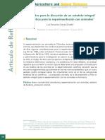 Elementos Para La Discusión de Un Estatuto Integral de Bioetica Para La Experimentación Con Animales