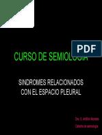 Sindromes Relacionados Con El Espacio Pleural Dra Antillon