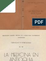 Manuel Uribe Angel - La Medicina en Antioquia
