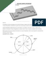 Cnc Milling Sample Program