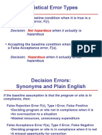 Statistical Errors Types