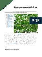 Kratom (Mitragyna Speciosa) Drug Profile