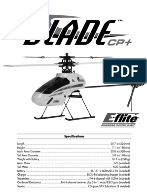 E-Flite EFLH1129 Mounting Accessories /& Wrench Blade CP