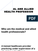 Medical and Allied Health Profession