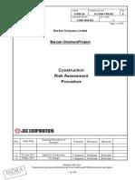 B S B00 1100 052_Construction Risk Assessment_Rev 0