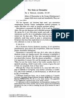 Treloar - 1979 - Two Notes on Chromatius