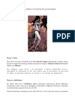 Conan 2d20 - Creación de personajes (Resumen)