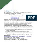FNBU 3440 Corporate Finance Policy