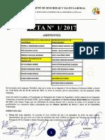 Acta 01/2017 Comité de Seguridad y Salud Laboral Tragsa UT 2 CV