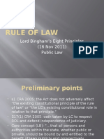 Lord Binghams Eight Principles- The Rule