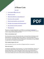 FAQ Colloidal Plexus Cyst