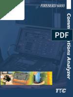 Acterna Fireberd 6000 Communications Analyzer Data Sheet