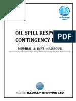 Oil Spill Response Contingency Plan for Mumbai & JNPT Harbour
