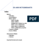 Matrices and Determinant