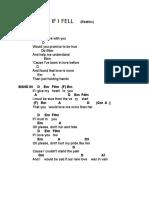 If I FELL - Beatles - Lyrics&Chords
