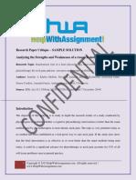 Research Paper Critique-Sample Solution