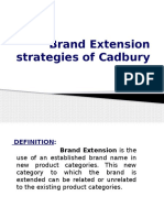 Brand Extension Strategies of Cadbury