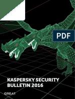 Kaspersky Security Bulletin 2016